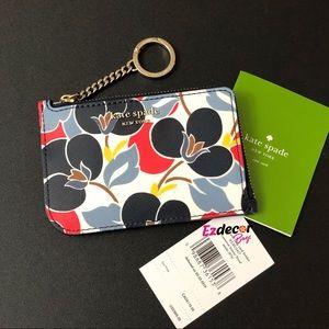 NWT Kate Spade Cameron L-Zip Card Holder Floral